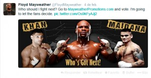 Floyd Mayweather's Twitter